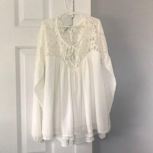 White Lace Longsleeve Shirt